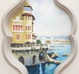 Abitazione privata, Genova. Veduta dipinta all' interno di una nicchia | Mara Beccaris Genova