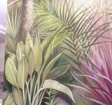 Abitazione privata- Rappresentazione dipinta di giardino esotico- particolare | Mara Beccaris Genova