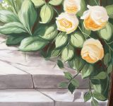 Abitazione privata- particolare trompe l'oeil - rose | Mara Beccaris Genova