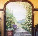 Abitazione privata- progettazione e realizzazione di arco su giardino dipinto | Mara Beccaris Genova