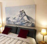 Abitazione privata, Cervinia (AO). Dipinto su tela 100x180cm | Mara Beccaris Genova