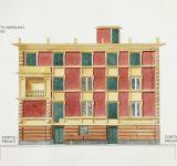 Bozzetti - Elaborato grafico - prospetto di facciata dipinta | Mara Beccaris Genova