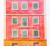 Bozzetti - Elaborato grafico - prospetto facciata dipinta | Mara Beccaris Genova