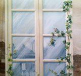 Finta finestra su pannello per nicchia in abitazione privata, Genova | Mara Beccaris Genova
