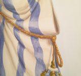 Particolare di un panneggio con nappa dipinti | Mara Beccaris Genova