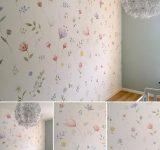Progettazione e realizzazione di decorazione floreale per una cameretta | Mara Beccaris Genova